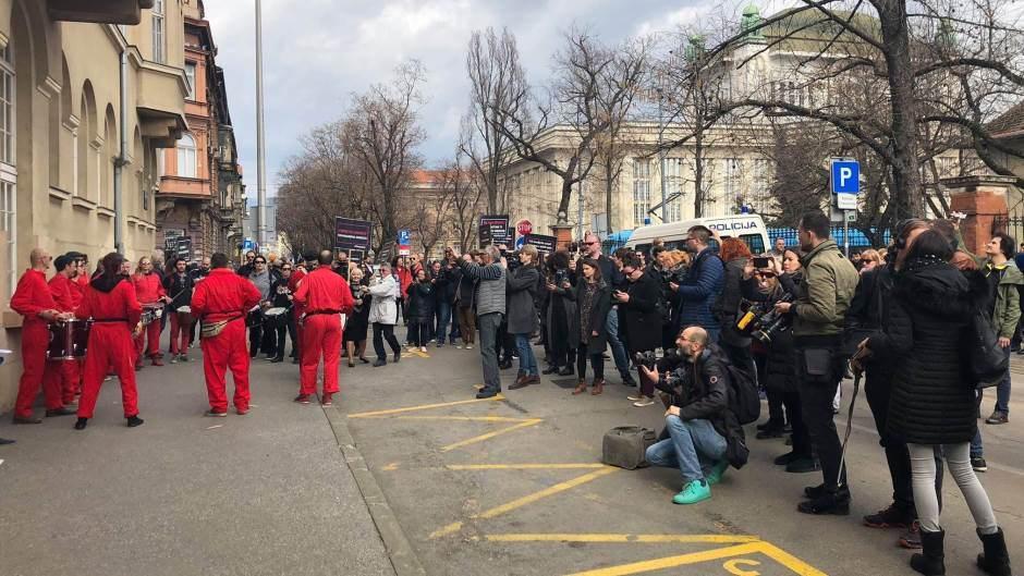 Protest novinara u Zagrebu − 'Dosta je bilo progona'