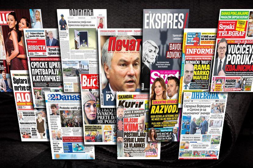 Više od 400 laži na naslovnicama četiri srbijanska tabloida u šest mjeseci ove godine
