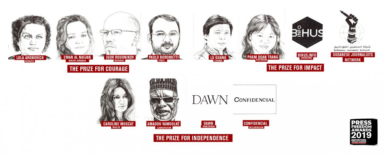 RSF objavio listu kandidata za ovogodišnju nagradu za slobodu medija