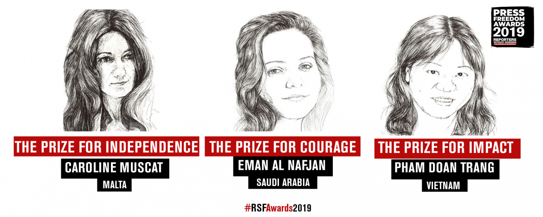 RSF uručio nagrade novinarkama iz Saudijske Arabije, Malte i Vijetnama za slobodu medija