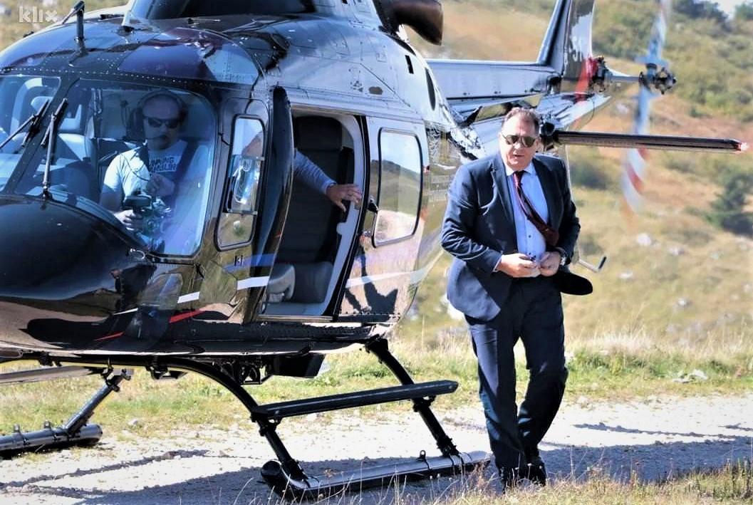 RTRS I BNTV: Milorad Dodik i njegov helikopter
