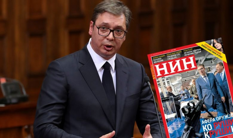 Srbijanski NIN najavio naslovnicu s puškom uperenom u Vučića