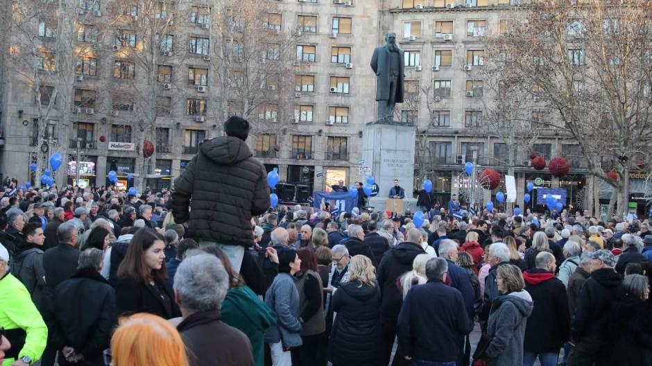 Protest podrške televiziji N1 u Beogradu