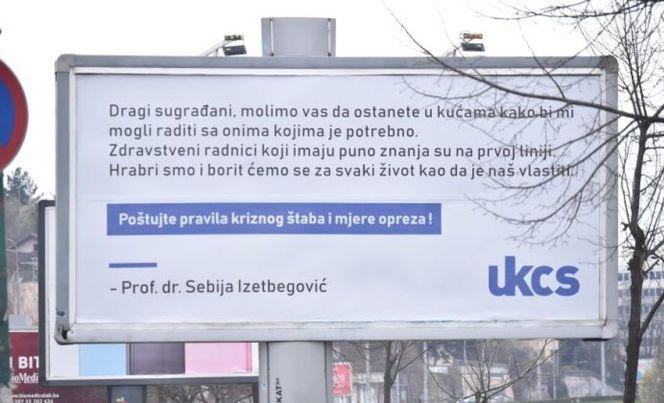 NERAVNOTEŽA POTPISA: Ispod bilborda ohrabrenja potpisana je Sebija, a ispod saopćenja o mrtvima – KCUS