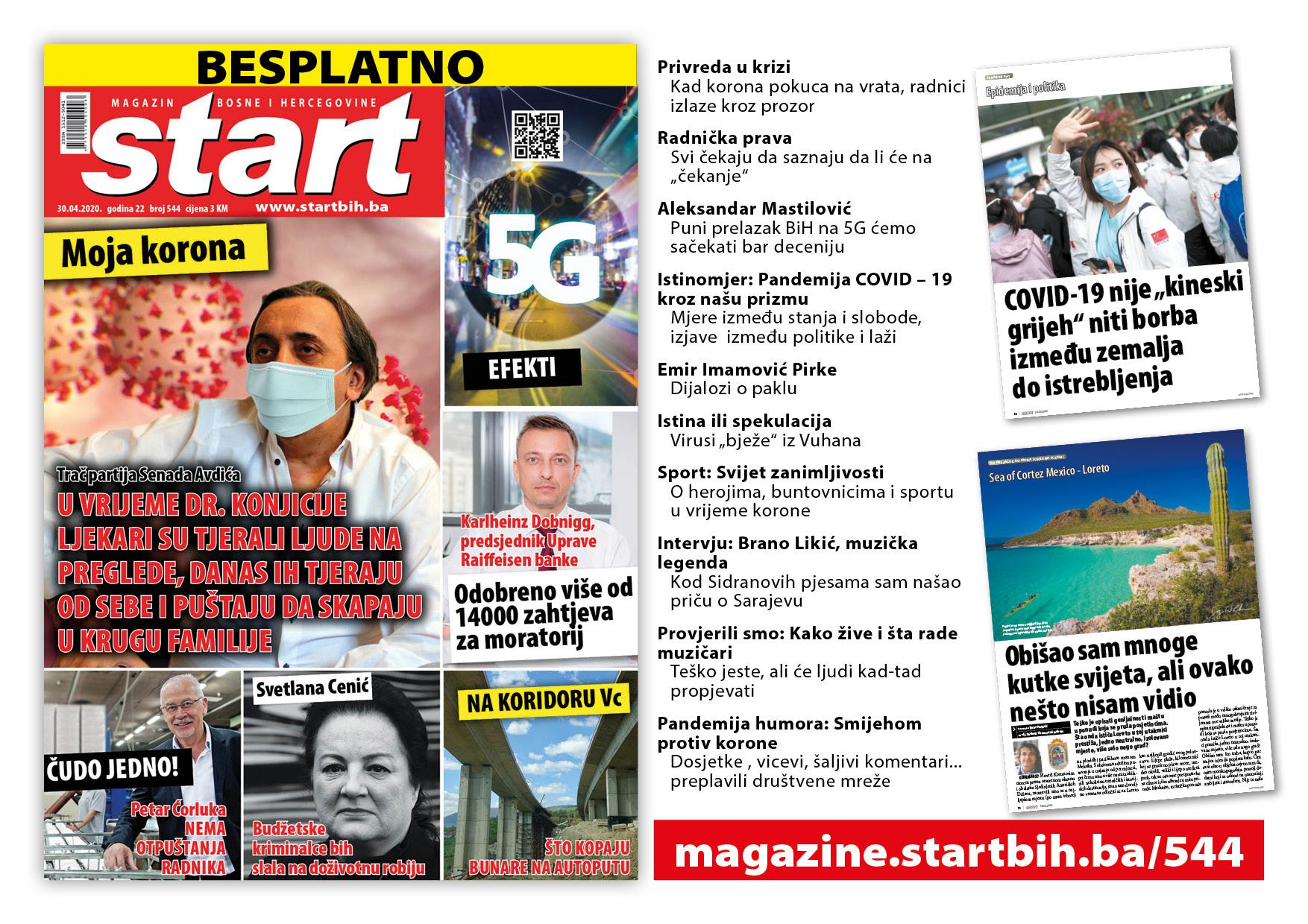 Novo izdanje magazina Start BiH besplatno na portalu startbih.ba