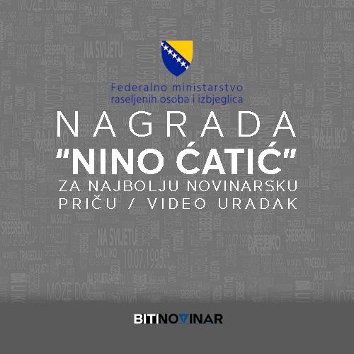 """Dodijeljena novinarska nagrada """"Nino Ćatić"""""""