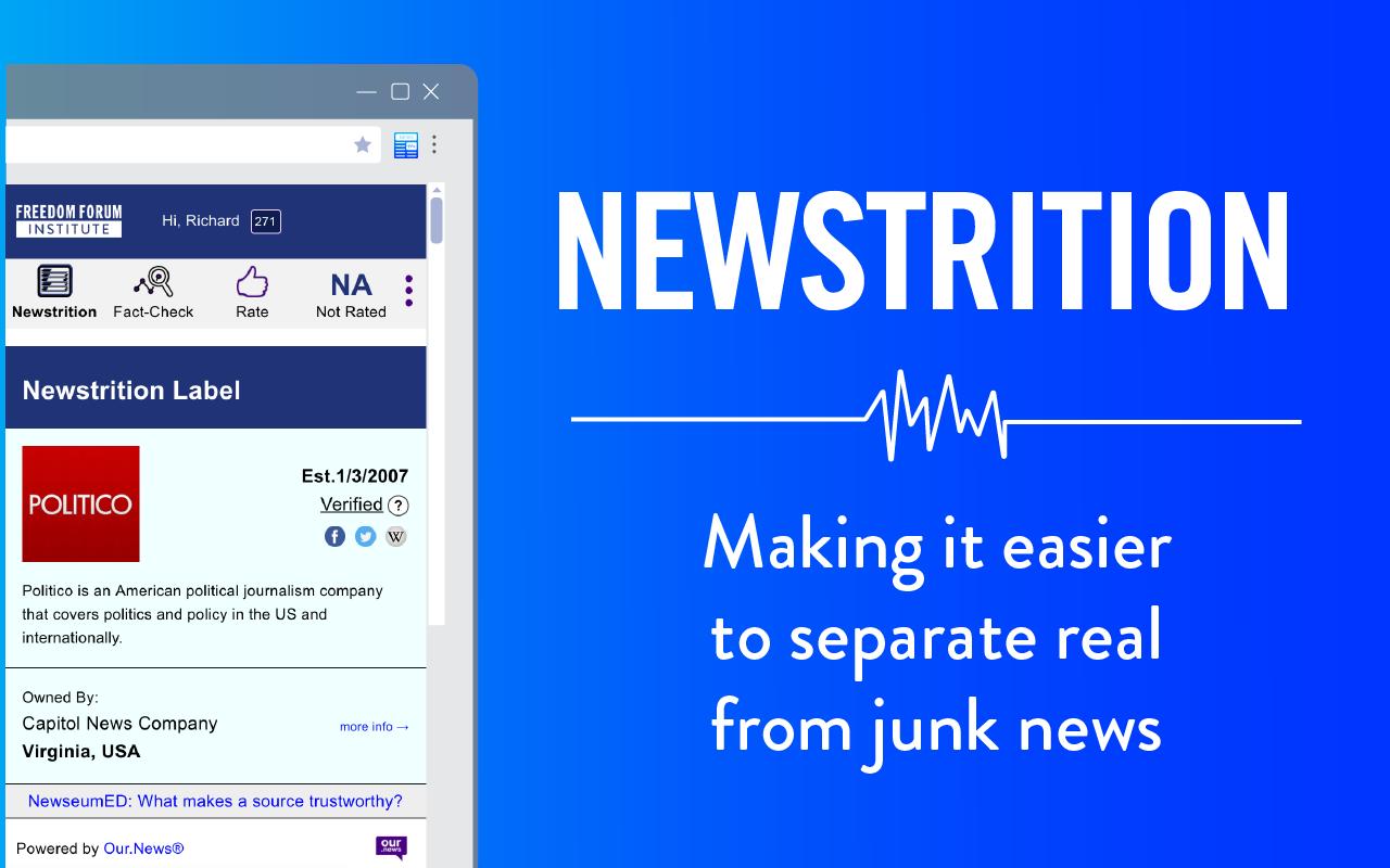"""Oznake """"Newstrition"""" pomažu čitateljima u prepoznavanju dezinformacija"""