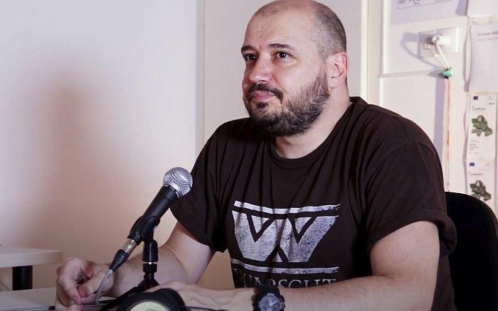 Skup podrške napadnutom novinaru Dašku Milinoviću u Novom Sadu