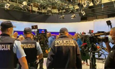 """Antivakseri upali u studio slovenske javne televizije: """"Ovo je opasan napad"""""""